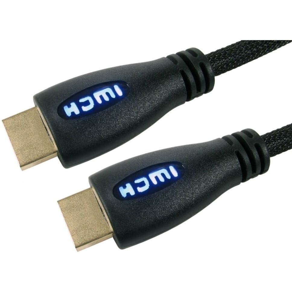 3m Illuminated HDMI Cable with Blue LED