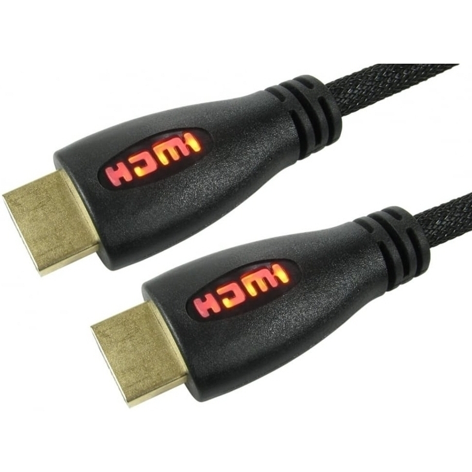 3m Illuminated HDMI Cable with Red LED