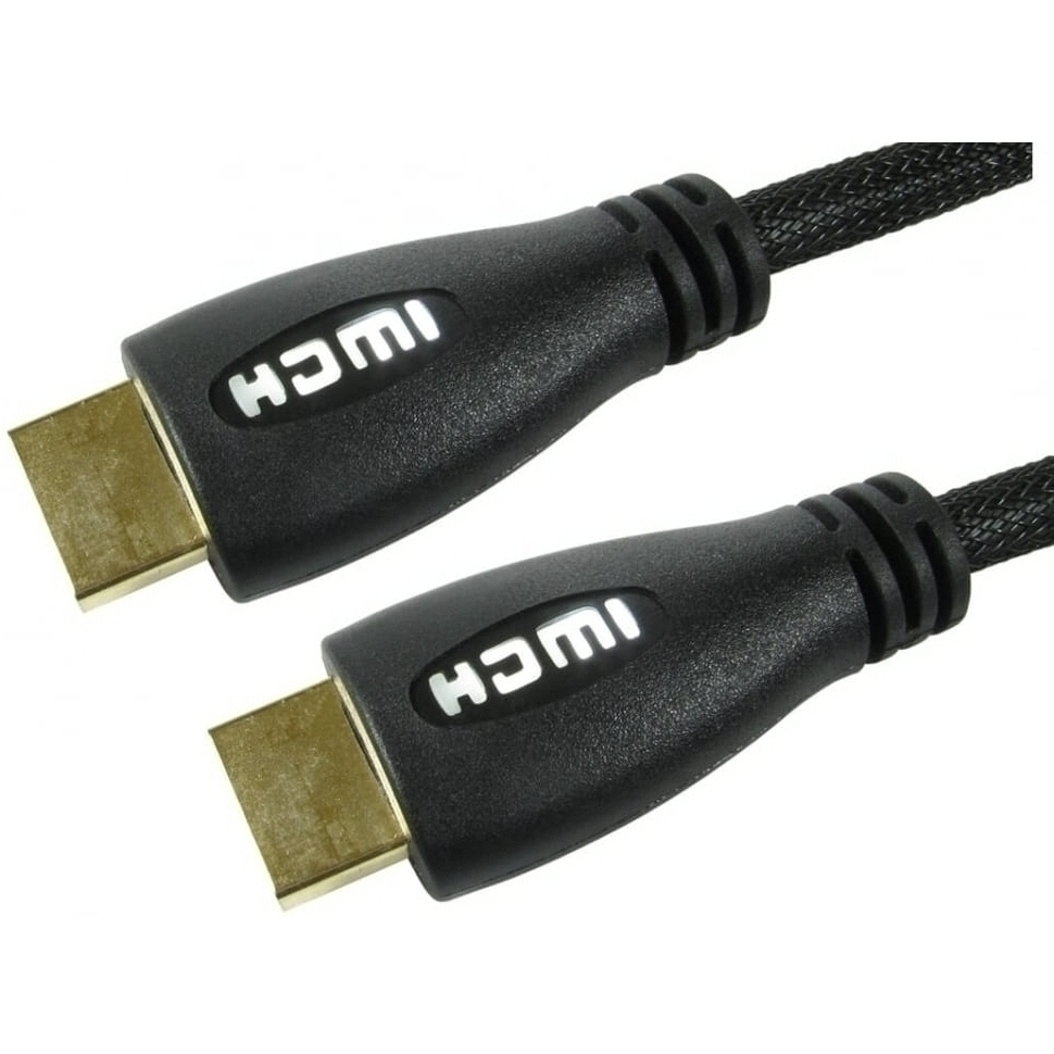 3m Illuminated HDMI Cable with White LED