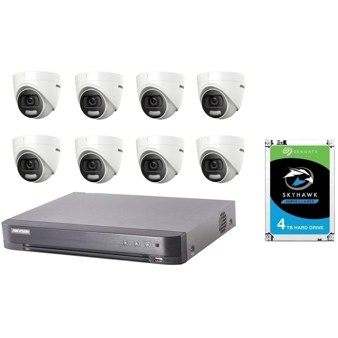 8 ColorVu 5MP HD CCTV with 4TB Drive