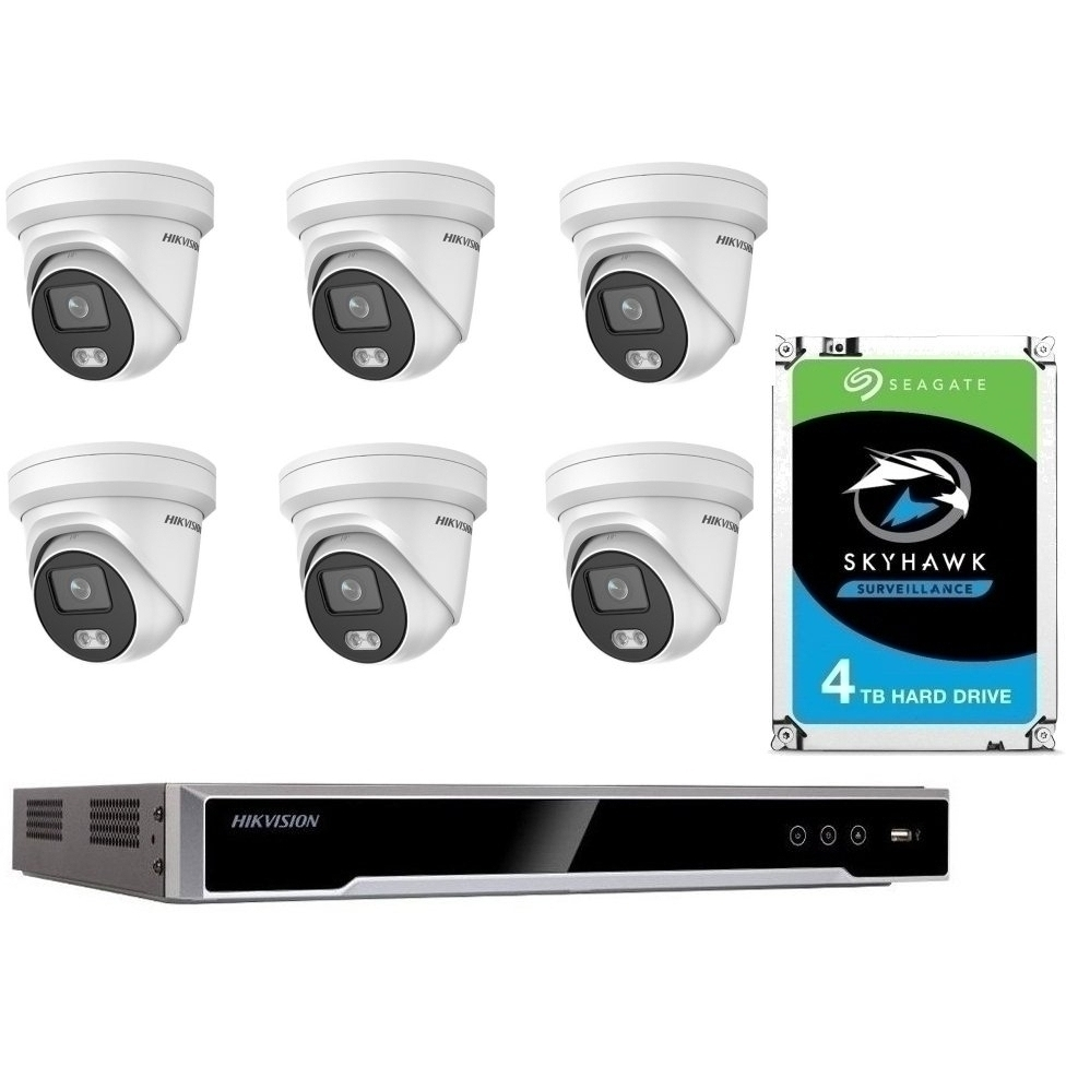 6 Camera 6MP IP CCTV with 4TB Drive
