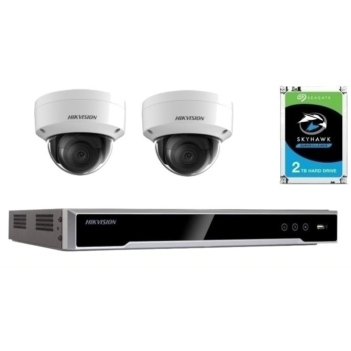 2 Camera 4K IP CCTV with 2TB Drive