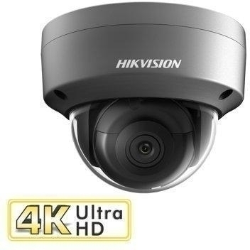8MP 4K Grey Dome 2.8mm 30m IR PoE